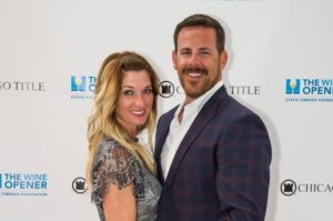 GWA President Kris Maksimovich and his wife Dana attend the 2017 Chicago Title Dallas Wine Opener