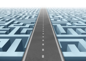 Life Planning Image with road passing through a maze