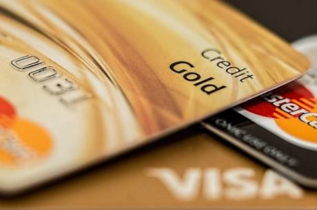 Credit Score With a Stack of Credit Cards
