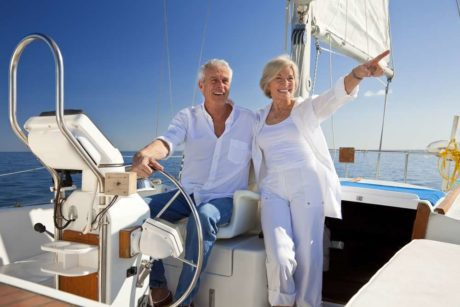 GWA retirement planning with couple on sailboat