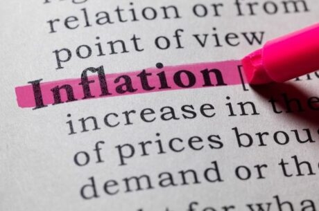 Should we be worried about inflation image depicts pink highlighted word in dictionary.